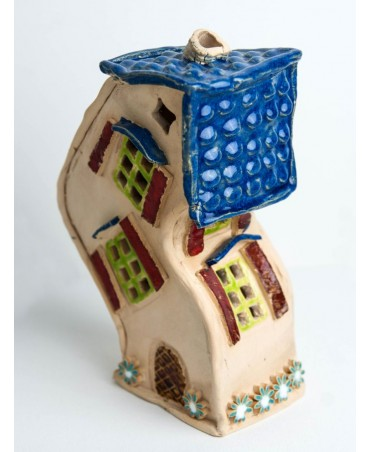 Krzywy domek 622 ceramiczny świecznik