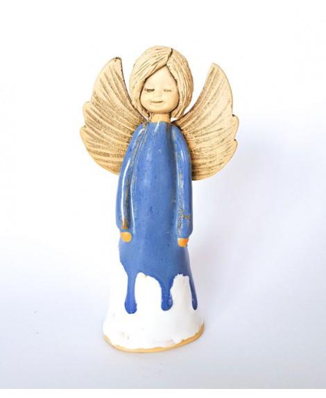 Anioł ceramiczny  stojący mały 669