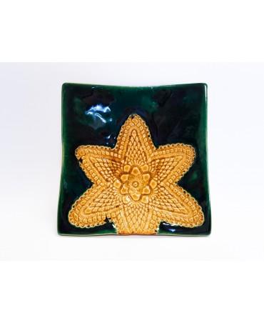 Talerz gliniany, dekoracyjny 684