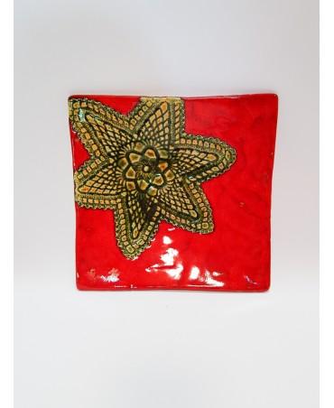 Talerz gliniany, dekoracyjny 801